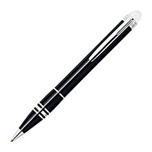 Buy Montblanc StarWalker Platinum Resin Ballpoint Pen, Black Online at johnlewis.com