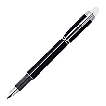 Buy Montblanc StarWalker Platinum Resin Cartridge Fountain Pen, Black Online at johnlewis.com