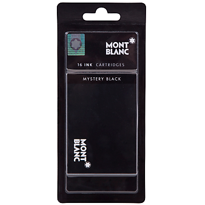 Montblanc Ink Fountain Pen Cartridges, Pack of 16, Mystery Black