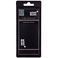 Buy Montblanc Ink Fountain Pen Cartridges, Pack of 16, Mystery Black Online at johnlewis.com