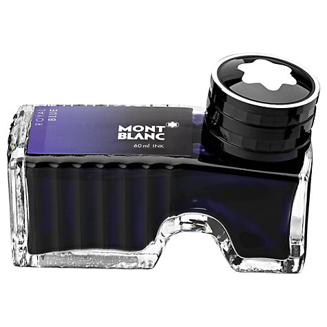 Buy Montblanc Ink Bottle for Fountain Pen, Royal Blue, 60ml Online at johnlewis.com