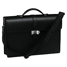 Buy Montblanc Westside Double Gusset Calfskin Briefcase, Black Online at johnlewis.com