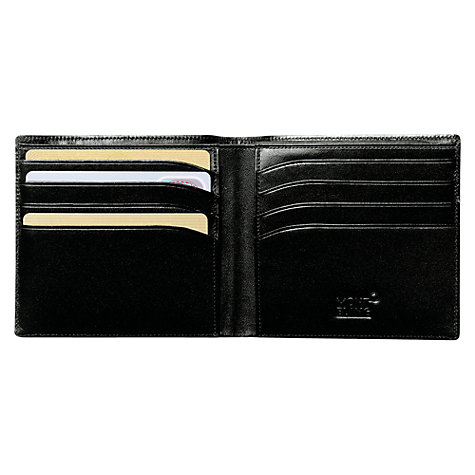 Buy Montblanc Meisterstück 8 Card Horizontal Leather Wallet, Black Online at johnlewis.com