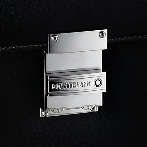 Buy Montblanc Meisterstück Single Gusset Leather Briefcase, Black Online at johnlewis.com