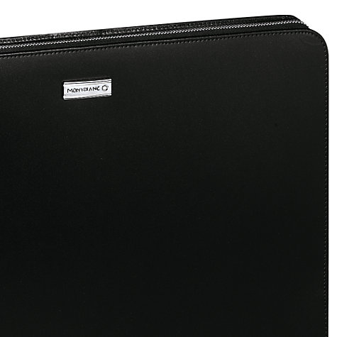 Buy Montblanc Meisterstück Zip Leather Portfolio, Black Online at johnlewis.com