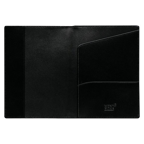 Buy Montblanc Meisterstück Leather Passport Holder, Black Online at johnlewis.com