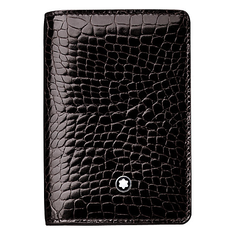 Buy Montblanc Meisterstück Selection Calfskin Business Card Holder, Mocha Online at johnlewis.com