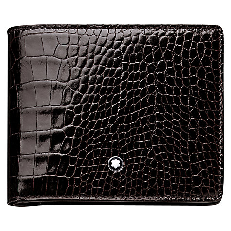 Buy Montblanc Meisterstück Selection 6 Card Leather Wallet, Mocha Online at johnlewis.com