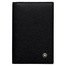 Buy Montblanc Westside Leather Business Card Holder, Black Online at johnlewis.com
