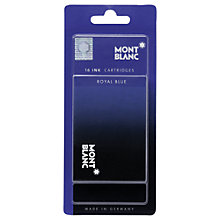 Buy Montblanc Blister Ink Fountain Pen Cartridge, Pack of 16, Royal Blue Online at johnlewis.com