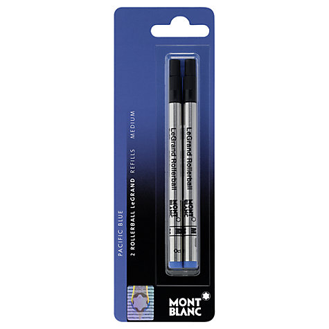 Buy Montblanc Blister LeGrand Rollerball Refills, Pack of 2, Pacific Blue Online at johnlewis.com