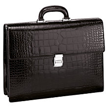 Buy Montblanc Meisterstück Selection Calfskin Double Briefcase, Mocha Online at johnlewis.com