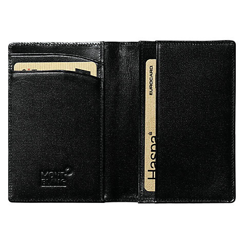 Buy Montblanc Meisterstück Leather Business Card Holder, Black Online at johnlewis.com
