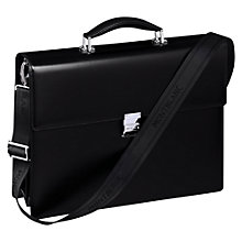 Buy Montblanc Meisterstück Double Gusset Leather Briefcase, Black Online at johnlewis.com