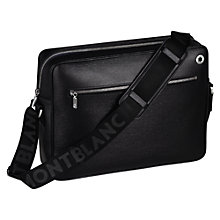Buy Montblanc Westside Leather Zip Messenger Bag, Black Online at johnlewis.com