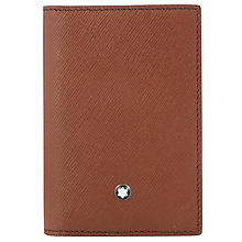 Buy Montblanc Meisterstück Leather Business Card Holder, Cognac Online at johnlewis.com