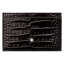 Buy Montblanc Meisterstück Selection  2 Card Calfskin Holder, Mocha Online at johnlewis.com