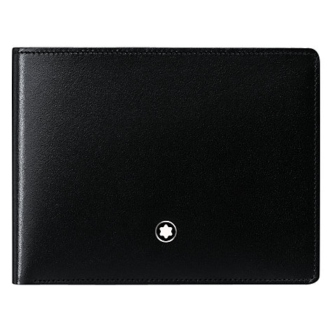Buy Montblanc Meisterstück 6 Card Horizontal Leather Wallet, Black Online at johnlewis.com