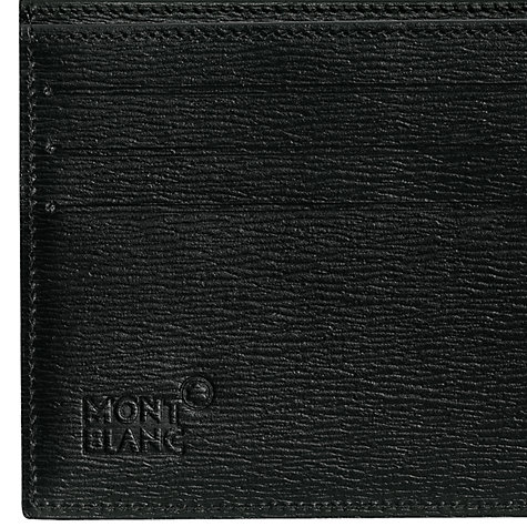 Buy Montblanc Westside 6 Card Horizontal Leather Wallet, Black Online at johnlewis.com