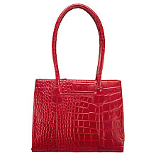 Buy O.S.P OSPREY Berlin Shoulder Handbag, Red Croc Online at johnlewis.com