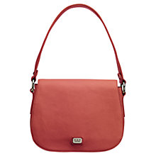 Buy O.S.P OSPREY The Marina Leather Shoulder Bag, Coral Online at johnlewis.com