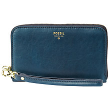 Buy Fossil Sydney Zip Phone Wallet, Blue Online at johnlewis.com