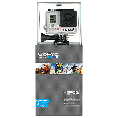Buy GoPro Hero3+: Silver Edition Camcorder, HD 1080p, 11MP, Wi-Fi Online at johnlewis.com