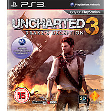 Buy Uncharted 3: Drakes Deception, PS3 Online at johnlewis.com