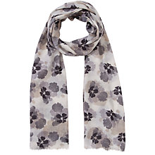 Buy Lola Rose Petal Print Wool Scarf, Grey Online at johnlewis.com
