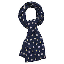 Buy Seasalt Daisy Dot Cotton Scarf, Navy Online at johnlewis.com