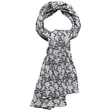 Buy Seasalt Boat Race Print Crinkle Cotton Scarf, Navy Online at johnlewis.com
