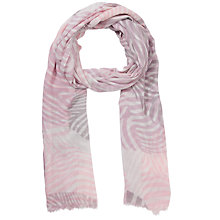Buy Lola Rose Zebra Print Scarf, Pale Pink Online at johnlewis.com
