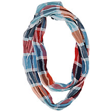 Buy Seasalt Check Crinkle Cotton Snood, Multi Online at johnlewis.com