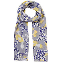 Buy Lola Rose Leopard Print Wool Scarf, Blue/Yellow Online at johnlewis.com