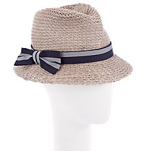 Buy John Lewis Knitted Italian Trilby Hat, Natural Online at johnlewis.com