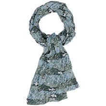 Buy Seasalt Millie Crinkle Cotton Print Scarf, Green Online at johnlewis.com