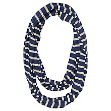 Buy Seasalt Stripe Organic Cotton Snood, Navy Online at johnlewis.com