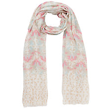 Buy Lola Rose Love Birds Print Scarf, Pink/Taupe Online at johnlewis.com