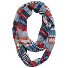 Buy Seasalt Stripe Cotton & Silk Mix Striped Snood, Multi Online at johnlewis.com