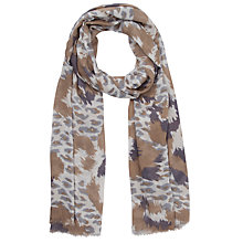 Buy Lola Rose Leopard Print Scarf, Taupe Online at johnlewis.com