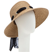 Buy John Lewis Glam Floppy Sun Hat With Tie Sash,  Natural Online at johnlewis.com