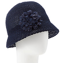 Buy John Lewis Knitted Italian Clothe Hat, Navy Online at johnlewis.com