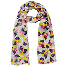 Buy Lola Rose Petal Print Chiffon Scarf, Grey Online at johnlewis.com