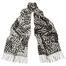 Buy Whistles Maggie Leopard Print Scarf Online at johnlewis.com