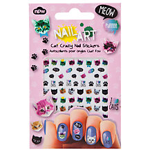 Buy Cat Crazy Nail Art Stickers, Multi Online at johnlewis.com