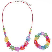 Buy John Lewis Girl Butterfly Bead Necklace and Bracelet Set Online at johnlewis.com
