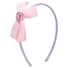 Buy Disney Princess Sofia the First Bow Alice Band, Purple Online at johnlewis.com