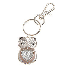 Buy John Lewis Girl Owl Keyring, Silver Online at johnlewis.com