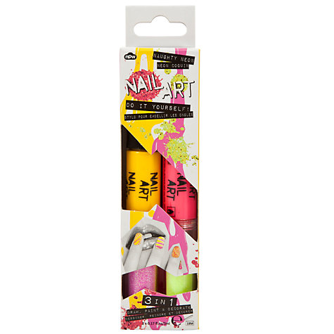 Buy 3-in-1 Neon Glitter Nail Art Pens, Pack of 2, Multi Online at johnlewis.com