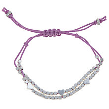 Buy Little Ella Lucy Heart Silver-Plated Bracelet, Purple Online at johnlewis.com